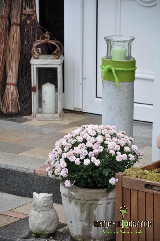 Dekorative hofbilder und arrangements - Beton dekoration ...